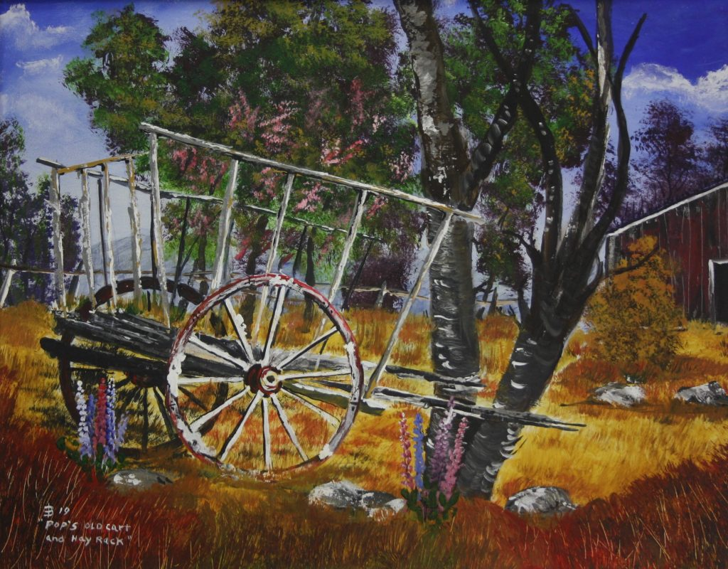 Pop's old cart and hay rack